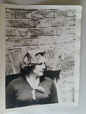 Vintage 60s B/W Photograph. South London Young Woman against Brick. Urban Youth