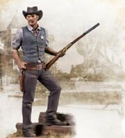 1/24 Resin Kit Figure Model American West Cowboy Man Sheriff Unpainted With Base