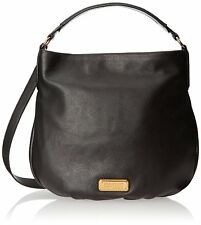 NWT MARC by MARC JACOBS Original New Q Hillier Leather Hobo Bag BLACK $428 AUTH!