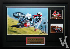 CHAD REED TEAM HONDA MOTOCROSS CHAMP SIGNED & FRAMED MEMORABILIA