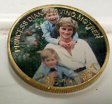 Princess Diana Gold Coin Princes Harry William Autographed Union Jack Elton John