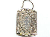 Silpada National Conference Sterling Silver Dog Tag Pendant, 6.6 g