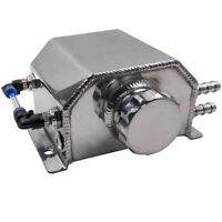 Universal 1L Alloy Aluminium Engine Oil Catch Can Breather Tank Bottle Reservoir