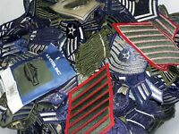 Vintage Patch Lot 100 patches USAF,Military, Air Force,Shoulder,Rank,Rare,bar