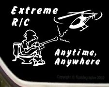 """RC R/C Helicopter Cartoon Decal-sticker """"Extreme R/C Anytime Anywhere"""" R/C-009"""