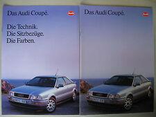 Prospekt audi Coupé b3 b4 2.0e 2.3e 2.6e 2.8e & Quattro 80 modelos 1993 alemán