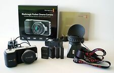 Blackmagic Pocket Cinema Camera + ZACUTO Z-Finder ($190 value), 4 batteries
