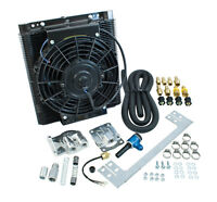EMPI 9248 MESA STYLE 96 PLATE OIL COOLER, THERMOSTAT ELECTRIC FAN, FULL FLOW KIT