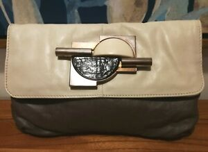 Witchery Large Leather Clutch Bag