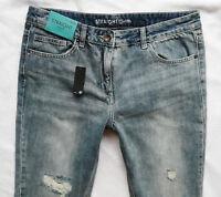 BNWT NEXT high rise straight leg jeans distressed rips boyfit  6/8/10/12/14 R/L