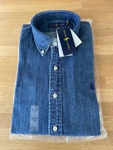 Polo Ralph Lauren. Blue Denim Shirt. Classic Fit. Medium. BNWT. RRP £115