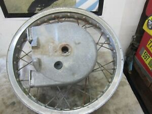 "Bultaco Matador 250 Model 26 Rear Wheel Hub Rim  18""  Akront  chain enclosure"