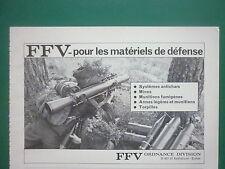 9/1980 PUB FFV ORDNANCE SWEDEN ANTICHAR MINE TORPILLE ARME ORIGINAL FRENCH AD