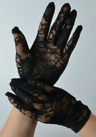 Stretch Party Punk Goth Gothic Wedding 20's 80s 80's Party Gloves Lace Black