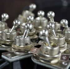 10-Pack On/Off Toggle Switch - Nickel Plated - 6A/120V - Steampunk Switch 2-Wire
