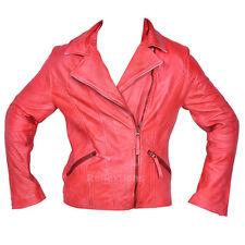 New Women Leather Biker Style Jacket Stylish Trendy Lamb Leather