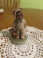"New listing Miss Martha Originals Bo #34 All God's Children 4"" 1985 Boy In Bunny Suit W/bear"