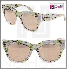 DOLCE & GABBANA Almond Flowers 4231 White Gold Mirrored Sunglasses DG4231
