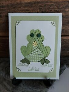 "HANDMADE IRIS FOLDING CARD ""SITTING FROG"""