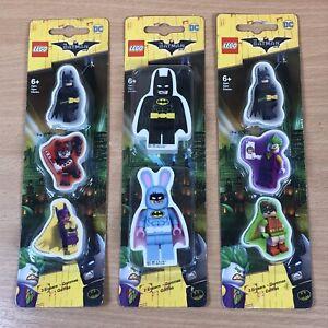 New Lego Batman Movie Eraser set 8 pack School Rubber Stationery STOCKING FILLER