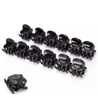 10PCS Black Plastic Mini Hair Claw Clamp Clips Bangs clips For Women Girls GIFTS