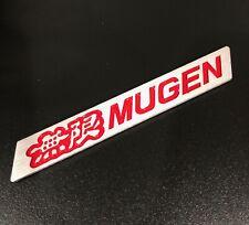 3D MUGEN Car Trunk Spoiler Lip Emblem Badge Sticker Decal Alumnium Red x1