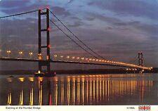 BR91643 evening at the humber bridge  uk