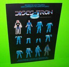 Bally Midway DISCS OF TRON 1983 Original NOS Video Arcade Game Fold-out Flyer