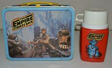 Vintage 1980 Star Wars The Empire Strikes Back Metal Lunchbox & Thermos Set C8++