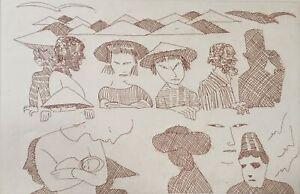 Charles BLACKMAN The Immigrants original signed Australian rare fine art print