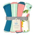 Cloud Island - 4-Pack Burp Cloths (Solids, Polka Dots, & Floral) - Multicolor