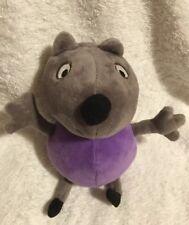 Peppa Pig Plush DANNY Dog Friend Stuffed Animal Barking Sound Purple Grey HTF