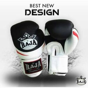 RAJA RJB-S1 AIR COW SKIN LEATHER SPECIAL DESIGN MUAY THAI BOXING LEATHER GLOVES