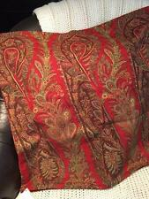 "NEW Pottery Barn Caroline Paisley Pillow Cover  24"" Christmas Thanksgiving"