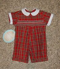 Provided Remember Ngyuen Christmas Smock Santa Red Romper Sz 6 Months One-pieces