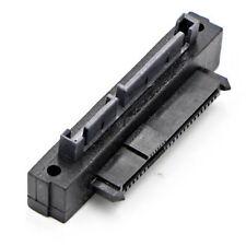 SFF-8482 SAS 22 Pin to 7+15 Pin SATA Male HDD Hard Drive Adapter 90 Degree Angle