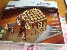 Grande 3D Rojo Silicona Chocolate Molde de pan de jengibre Cottage Plus Receta sólo