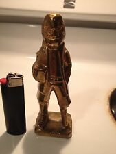 Old Vtg Brass Standing Old Fisherman Sailor Statue Figure Figurine Big As Iphone