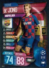 Topps Match Attax Champions League 19/20 Karte Nr. BAR 7 Frenkie De Jong FC