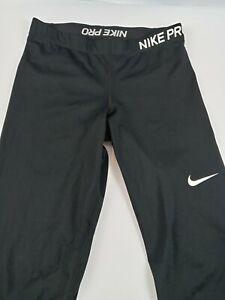 Nike Pro athletic pants leggings black activewear size Large