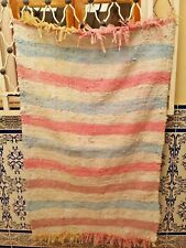 "Vintage Moroccan Rug Handmade Kilim Carpet Berber rug Azilal  4'5"" x 2'9"" free"