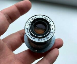1953 KMZ Industar-22 RED P 1:3,5 F=50cm Collapsible Lens USSR M39 mount