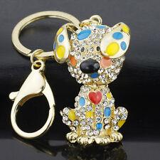 Key Chain Keychain Ring Keyring Gift Metal Pendant Car Fashion Rhinestone New