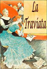 La Traviata Ópera Teatro jugar mostrar Chic Deco cartel impresión