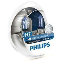 Pack of 2 H7 Halogen Headlight Bulbs Philips Diamond Vision 5000K Ultimate White
