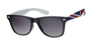 Wayfare Sunglasses Black Frame various Union Jack Coloured Arms UV400