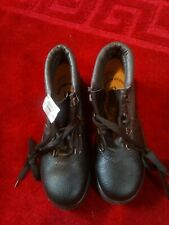 Women's Black Leather Safety Boots Size 4, Steel Toecaps, Antistatic, Oil And...