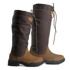 Brogini Derbyshire Country Boot X Wide Calf Waterproof - Rider Stable Yard Wear Size 40 (6.5)