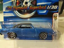 Hot Wheels '70 Plymouth Superbird 2006 First Editions #001 Blue 10 sp