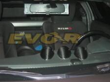 REAL Carbon fiber center 3 gauge pod covers for all Nissan 370Z Z34 EVO-R